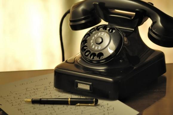 懐かしの黒電話画像