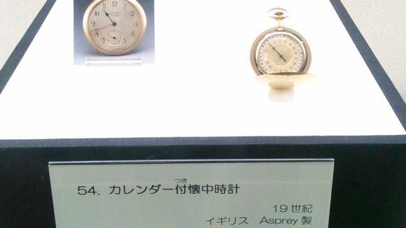 懐中時計展展示品カレンダー付き時計