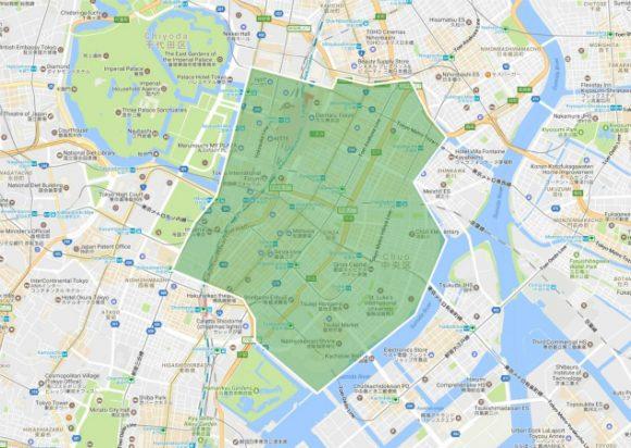 UberEATS配送無料キャンペーンエリア
